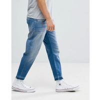 Selected Homme Jeans In Tapered Fit With Cropped Leg - Blue, jeansy