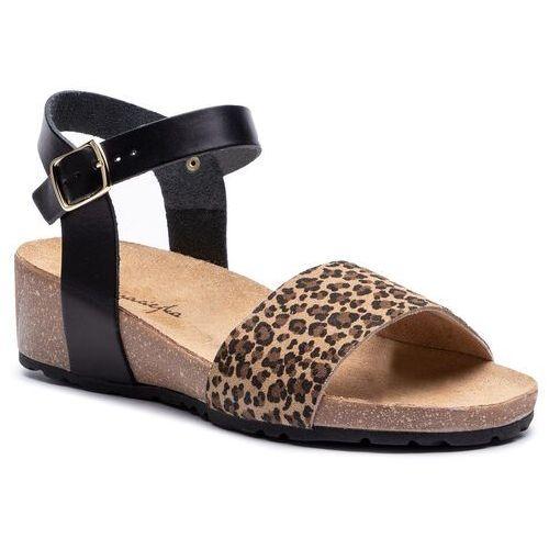 Sandały MACIEJKA ESP25 0100 1 Negro Combi Koturny