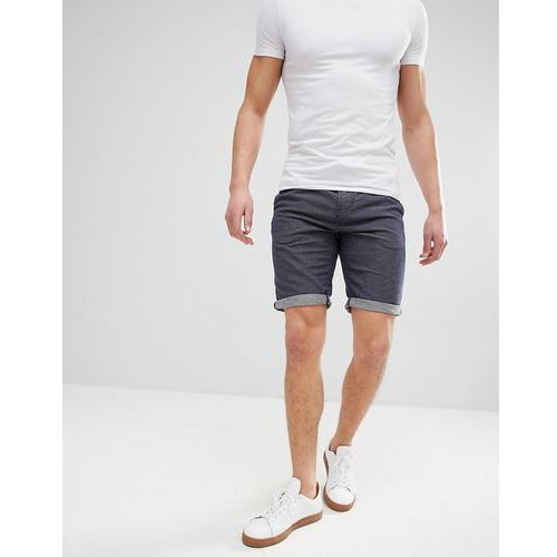 slim fit drawstring chino shorts in spot - blue, Tom tailor