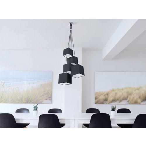Lampa sufitowa wisząca - żyrandol czarna - oświetlenie - MESTA