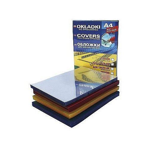 Okładki do bindowania folia przezroczysta żółta 0,20mm DATURA, 100szt.