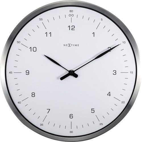 Nextime Zegar ścienny 60 minutes biały cyferblat (3243 wi)