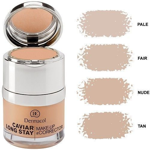 Dermacol Caviar Long Stay Make-Up & Corrector 30ml W Podkład Nude