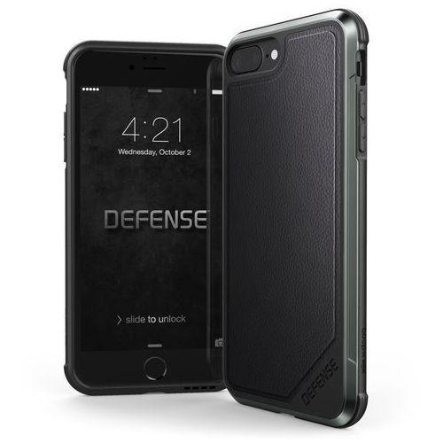 X-Doria Defense Lux - Etui aluminiowe iPhone 8 Plus / 7 Plus (Black leather), 449687