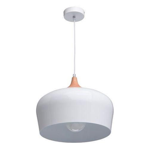 Duża, biała lampa wisząca nad stół do jadalni lub kuchni megapolis (636010801) marki Mw-light