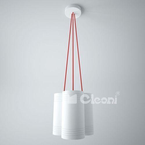Cleoni Lampa wisząca celia a3 z pomarańczowymi przewodami żarówki led gratis!, 1271a3b+