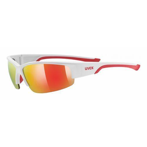 Uvex okulary przeciwsłoneczne Sportstyle 215 White Mat Red/Red (8316)