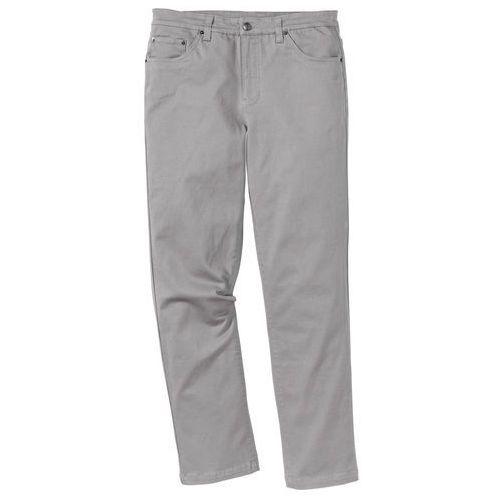 Spodnie ze strechem Classic Fit Straight bonprix szary, bawełna