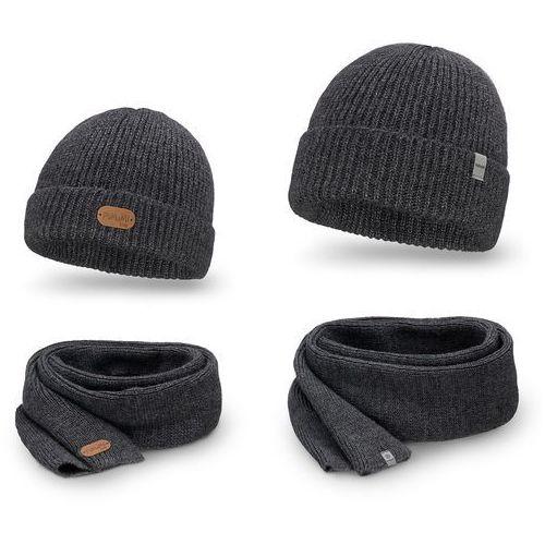 Pamami Komplet - czapka i szalik - ciemnoszary