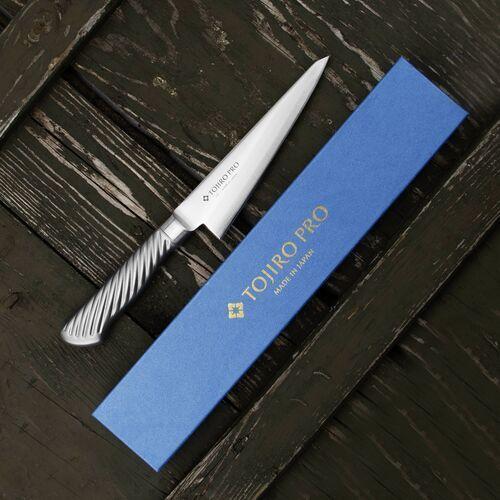 Nóż do trybowania stalowy 15 cm tojiro pro vg-10 (f-885) (4960375138851)