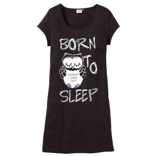 Koszula nocna czarny - sowa marki Bonprix