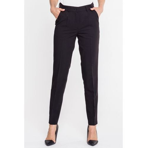 Eleganckie spodnie z wełny naturalnej - Sobora, kolor czarny
