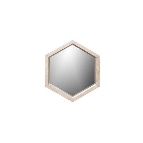 Woood lustro heksagon drewniane duże - woood 370112-n