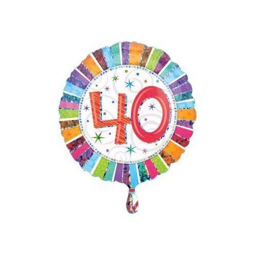 Balon foliowy 40te urodziny - czterdziestka - 47 cm marki Amscan