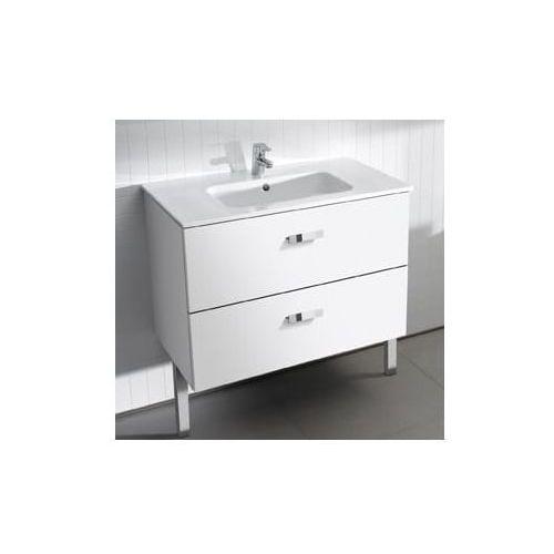 ROCA Victoria Basic Unik szafka z szufladami biały połysk + umywalka 100 A855851806
