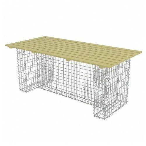 Elior Stół ogrodowy matte ze stalowym gabionem