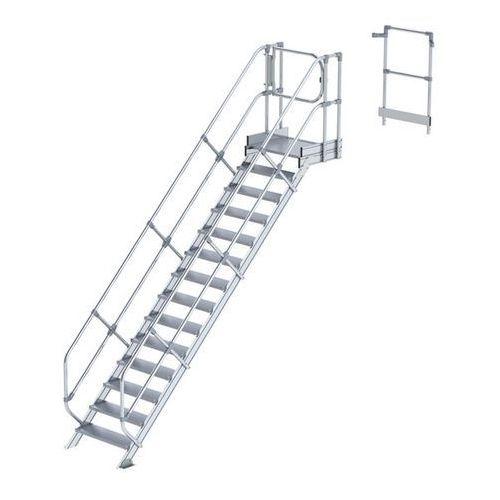 Przemysłowy pomost roboczy, moduł do schodów, 13 stopni. Najwyższa elastyczność