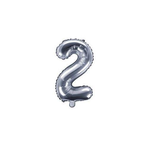 Party deco Balon foliowy cyfra 2 srebrna - 35 cm (5902230772519)