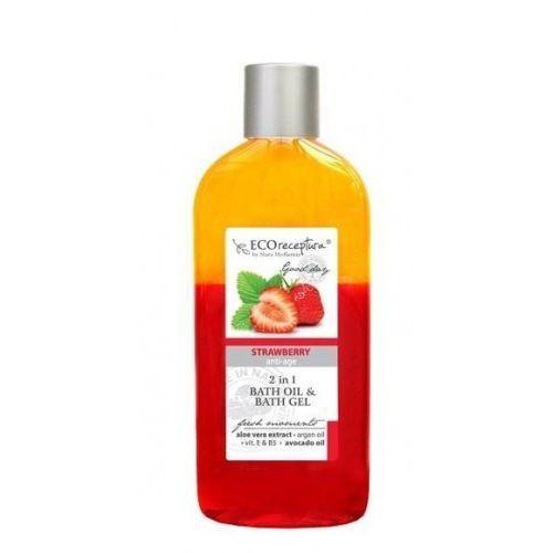 ECO RECEPTURA Strawberry - dwufazowy olejek do kąpieli 250 ml, 36359