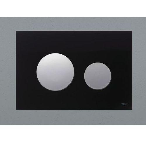 Tece przycisk spłukujący TECEloop szkło czarne, przyciski chrom połysk 9240656
