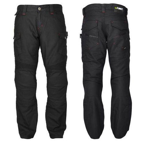 Męskie jeansy motocyklowe cruiser, czarny, 46/4xl marki W-tec