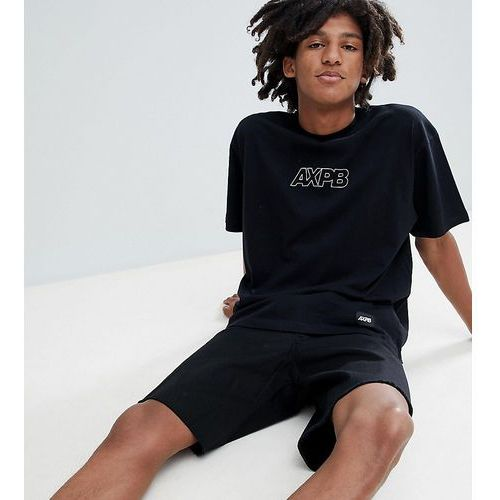 Pull&Bear Exclusive Oversize T-Shirt In Black With Logo - Black
