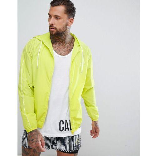 Calvin klein beach windbreaker jacket - yellow