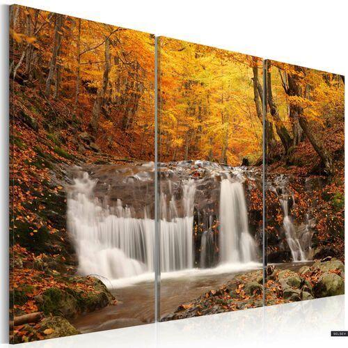 SELSEY Obraz - Wodospad wśród jesiennych drzew 120x80 cm (5902622537504)