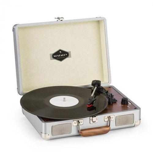 Peggy sue gramofon głośniki stereo złącze usb kolor srebrny marki Auna