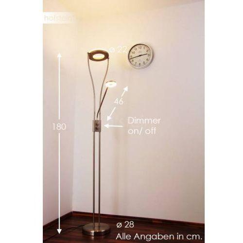 Reality Trio rl rennes r42412107 lampa stojąca podłogowa 1x18w led niklowa/biała (4017807268027)