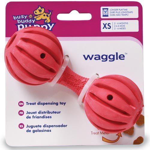 Waggle - mały hantel z przysmakami dla szczeniąt