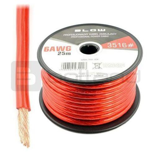 Przewód zasilający Blow 6AWG - czerwony - rolka 25m