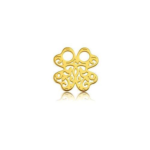 Blaszka celebrytka koniczynka - ażurowa, złoto próba 585 marki 925.pl