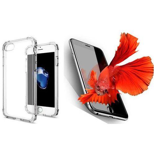 Sgp - spigen / perfect glass Zestaw | spigen sgp crystal shell clear crystal | obudowa + szkło ochronne perfect glass dla modelu apple iphone 7