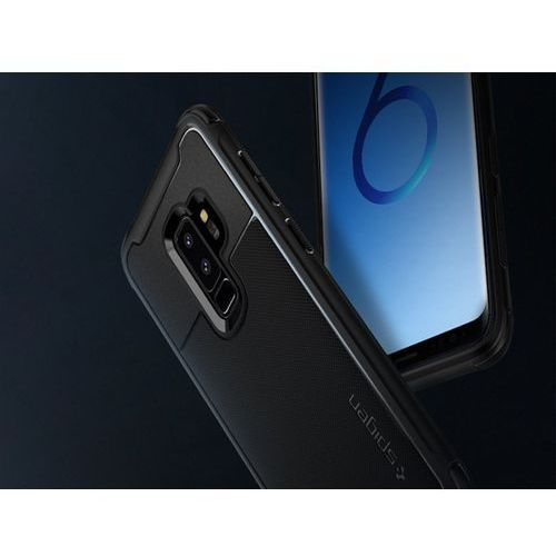 SPIGEN SGP Rugged Armor Urban Etui Galaxy S9+ Plus Black, kolor czarny