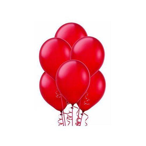 Balony lateksowe metaliczne czerwone - średnie - 100 szt. marki Belball