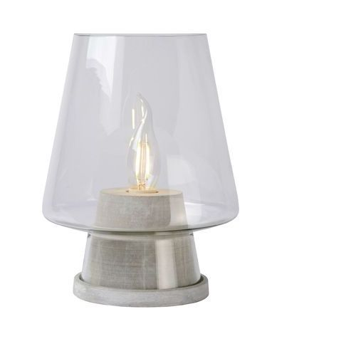 Glenn - lampa stojąca szkło/beton wys.25cm, marki Lucide