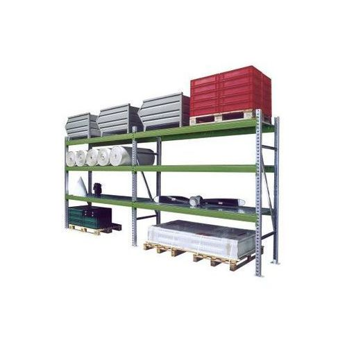 System regałów do dużych obciążeń, zestaw, szer. x gł. x wys. 5610x800x2500 mm, marki Eurokraft