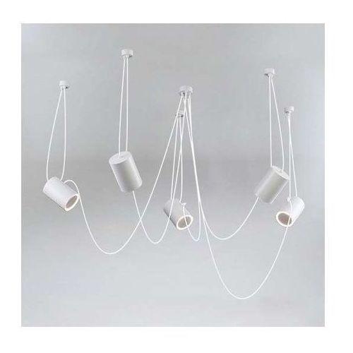 Shilo Lampa wisząca dubu 9028/e14/sz modernistyczna oprawa metalowy zwis tuby szare