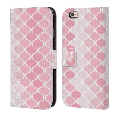 Head case Etui portfel na telefon - ogee pattern ombre pink