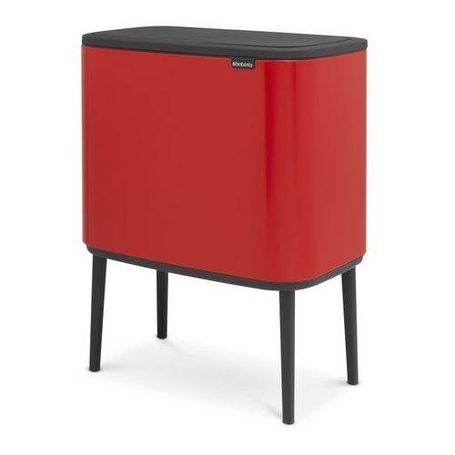 Brabantia - Kosz Bo Touch Bin 3 x 11 l - 3 komory - czerwony - czerwony (8710755316005)