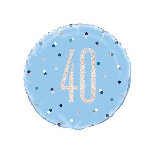 Balon foliowy niebieski - 40 - 46 cm - 1 szt. marki Unique