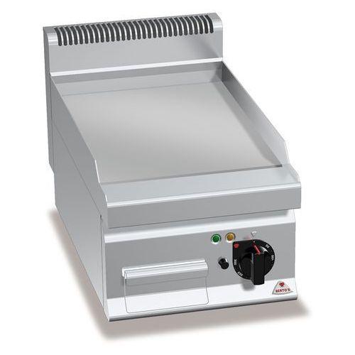 Płyta grillowa, elektryczna, ze stali chromowanej, gładka, nastawna, 4,8 kW, 400x700x290 mm   BERTO'S, Macros 700, POWERED HARD CHROME, E7FL4BP/CR