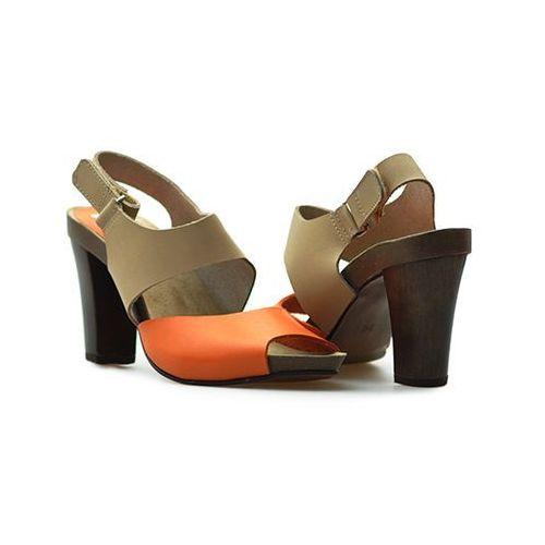 Sandały Karino 0775/046 Beżowe/Pomarańczowe lico, kolor pomarańczowy
