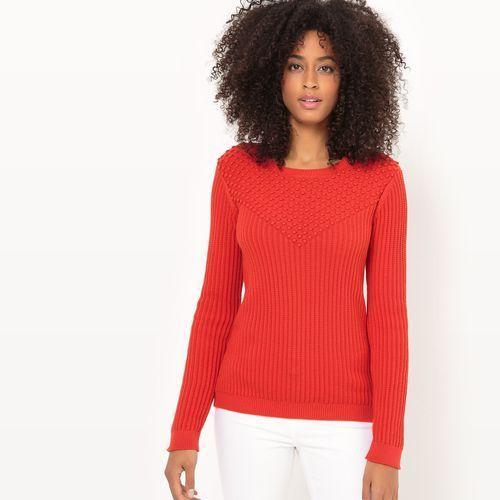Fantazyjny sweter z okrągłym dekoltem marki La redoute collections