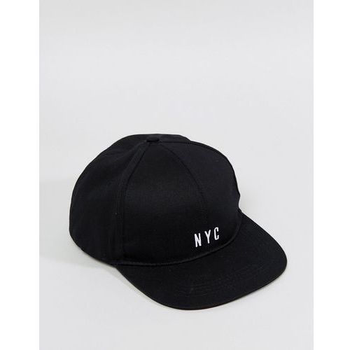 New Look Snapback Cap With NYC Logo In Black - Black