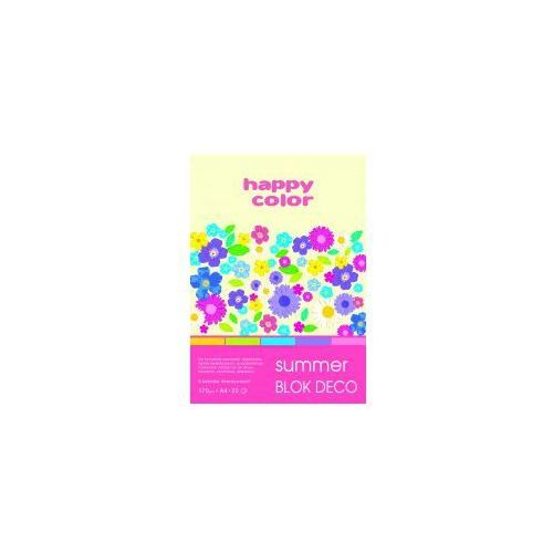 Blok dekoracyjny a4 happy color 170g summer marki Staedtler