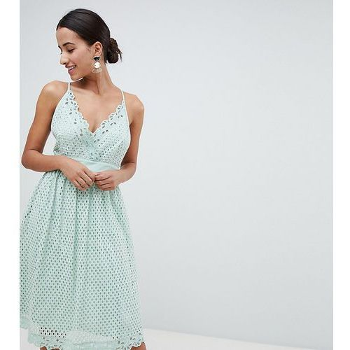 cami lace midi dress - green marki Boohoo