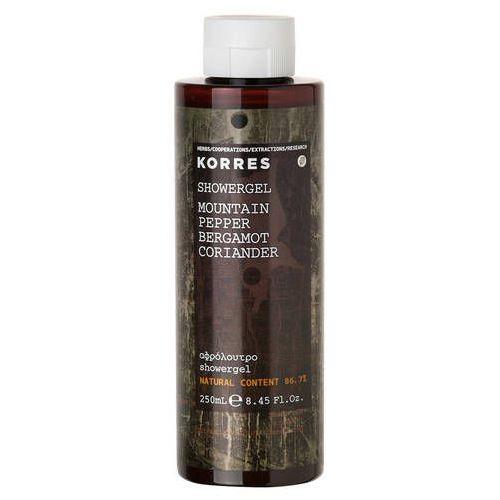Korres , mountain pepper showergel. żel pod prysznic dla mężczyzn o zapachu bergamotki, 250ml - korres
