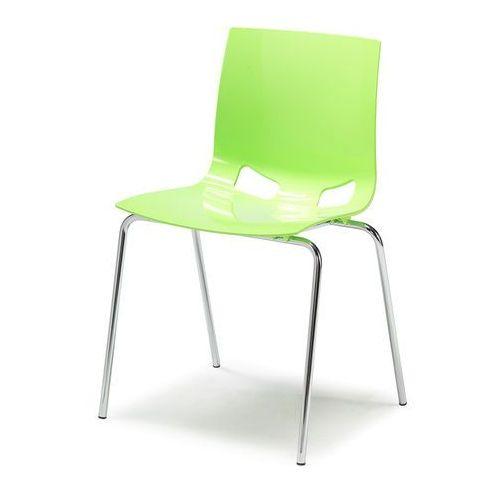 Krzesło plastikowe Juno zielony, 360748